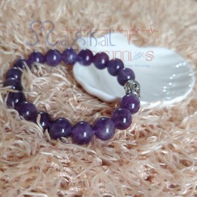 Amethyst Bracelet with Budha charm
