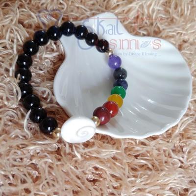 Seven Chakra Bracelet with Gomati Chakra