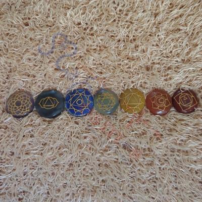 Seven Chakra Round Crystal Reiki Healing Set