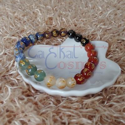 Seven Chakra Om mani Bracelet
