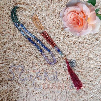 Seven Chakra Charm Necklace