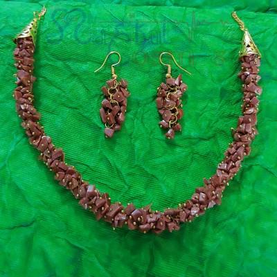 Sun Sitara Chips Set (Necklace + Earrings)