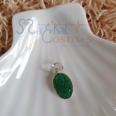 Ganesha Pendant  - Green