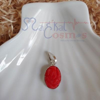 Ganesha Pendant  - Red