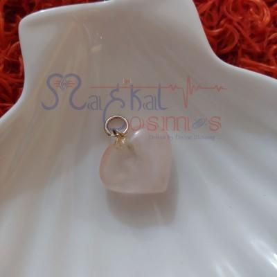 Rose Quartz Heart Shape Pendant S