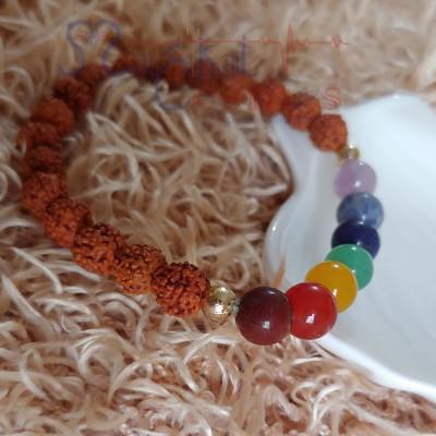Rudraksha Seven Chakra Bracelet