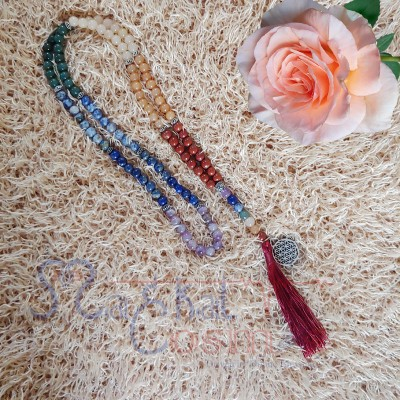Seven Chakra Charm Necklace