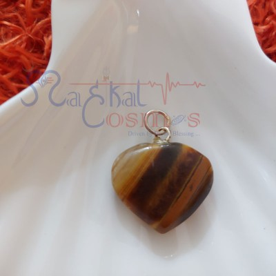 Tigers Eye Heart Shape Pendant S
